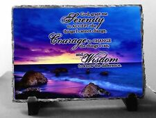 SERENITY PRAYER PHOTO ROCK SLATE picture spiritual inspirational PLAQUE gift NEW