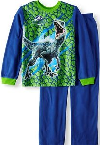 Jurassic world Pajamas 4 5 6 7 8 10 12 Boys 2Pic Flannel Set New Sleepwear