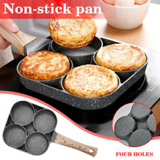 4 Hole Fried Egg Burger Pan Non-stick Multipurpose Frying Pan Kitchen Utensil