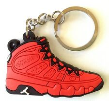 AIR JORDAN IX 9 RETRO MOTORBOAT JONES RED OG SNEAKER SHOES KEY CHAIN RING HOLDER