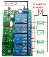 AD22B04 4 CH DTMF MT8870 Audio Decoder Smart Home Relay Controller Voice Phone