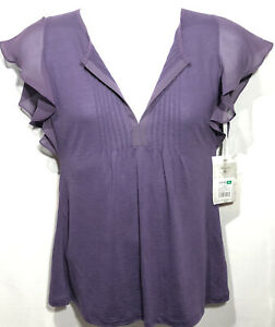 NWT Converse One Star Women's Purple Blouse Sz M