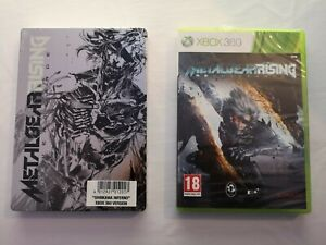 Metal Gear Rising: Revengeance Xbox 360 - Sealed With Steelbook, Game and Card