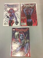 Lot Of 3 Marvel Comics Mystique Comic Book Dead Drop Gorgeous 1 2 3 VF NM