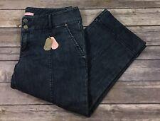 Gianni Bini NWT Womens Gilda Cropped Capri Jeans 29 Medium Wash Straight Leg Q20