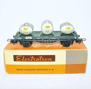 Electrotren Spain HO 1:87 Renfe RN SEMAT ESPARA TRANSPORT VAN WAGON MIB`65 RARE!