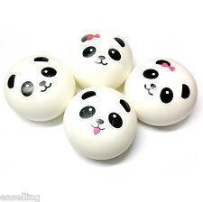 4Pcs Random Panda Squishy Kawaii Buns Bread Charms Cell Phone Bag Key Strap Lot