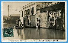 CPA: Paris - Inondations de Paris - La Rue Félicien David