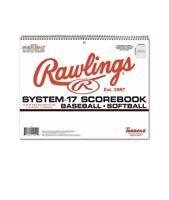 Rawlings Official System 17 Baseball/Softball Scorebook 9 Innings 17 Players NEW