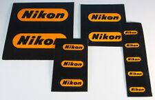 Nikon Logo Aufkleber-Set 1970er Retro - 12 Aufkleber in 4 verschiedenen Größen