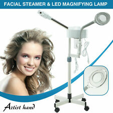 2In1 Facial Steamer 5x Led Magnifying Lamp Hot Ozone Beauty Salon Face Equipment