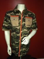 NWT Coogi Camouflaged XL  Vacation Business Casual Button Down Shirt