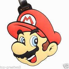 New Super Mario Bros Rubber Silicone Travel Luggage Tag Label Baggage Tag