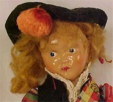 Vintage Scotland Girl Doll in Kilt Scottish Hard Plastic Needs Repair