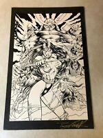 HARI KARI silence of evil original art POSTER and CARD SPLASH demons BAD GIRL
