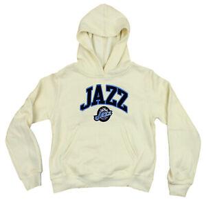 Outerstuff NBA Youth Girls Utah Jazz Pullover Hoodie, Cream
