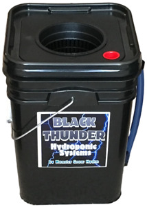 4-Gallon Square-Bucket Deep Water Culture DWC Hydroponic System Grow Kit