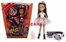 Bratz Funk N Glow Doll Yasmin Light Up Party Dress 3D Glasses Tiara Purse NEW