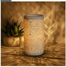 Aroma Wax Burner Lamp, Swirl Detail 20cm x 11cm