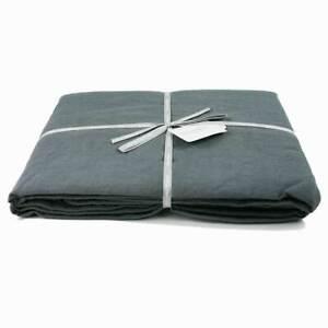 Charcoal Grey Double Duvet Cover /  Bedding /  Double Duvet Cover