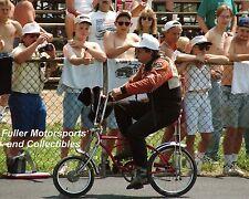 JOHN FORCE RIDING HIS BIKE AT COLUMBUS OHIO NATIONAL TRAIL NHRA 1996 8X10 PHOTO