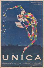 *  UNICA, cioccolato cacao caramelle biscotti - Torino (Arlecchino- Bergamo)1937