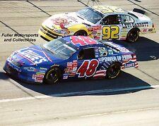 JIMMIE JOHNSON ROOKIE vs STACY COMPTON 2001 NASCAR WINSTON CUP 8X10 PHOTO
