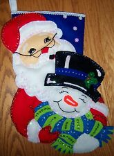 Finished  DESIGN WORKS ''WINTER PALS'' FELT APPLIQUE CHRISTMAS STOCKING