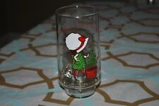 Vintage Holly Hobbie Merry Christmas Coca Cola Glass Cup Coke Holiday 1980s Le