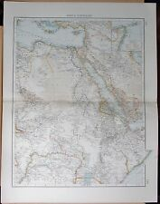 "1900 ""TIMES""  LARGE ANTIQUE MAP - AFRICA NORTH EAST RED SEA SUDAN ARABIA"