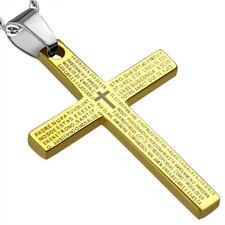 Zense - Pendentif homme doré et croix latine ZP0172