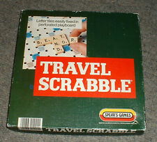 GOOD CONDITION TRAVEL SCRABBLE 100% COMPLETE TILES TILE HOLDERS BOARD RULES