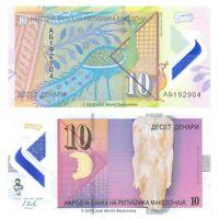 Macedonia 10 Denari 2018 P-25 Polymer Banknotes UNC