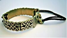 J774*) Vintage pewter St Justin Celtic Viking dragon serpent bracelet bangle
