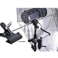 """Heavy Duty Strong Clamp Clip Mount 1/4"""" Screw For Photo Studio Flash Light Stand"""