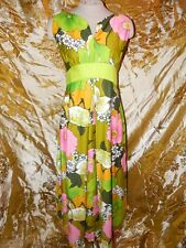 Vintage Paradise Hawaii 60's 70's Maxi Dress