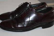 STAFFORD Comfort Plus Burgundy Leather Brogue Wingtip Oxfords Men's 11 D/B