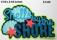 Shells By Shore Title beach summer scrapbook premade paper piecing by Rhonda