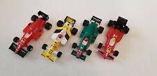 4 Formel 1 Rennwagen von Polistil - 2 x Ferrari Benetton und Minardi