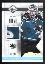 12/13 Panini Limited Materials #AN Antti Niemi 3 Color Patch Card #09/10