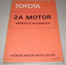 Werkstatthandbuch Toyota Tercel Typ AL 11 2A Motor Stand August 1979!