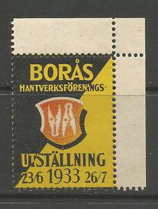Sweden/Borås 1933 Craft Association Exhibition poster stamp/label