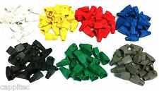 PACK OF 140 MIXED COLOUR RJ45 SNAGLESS NETWORK CABLE PLUG HOODS BOOTS CAT5e CAT6