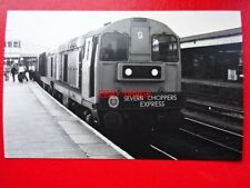PHOTO  CLASS 20 LOCOS 20156 & 20175 AT GLOUCESTER 3/9/78 SEVERN CHOPPERS EXPRESS