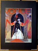 alte Reklame Druck hinter Passepartouts 80er Vogue 36x26 cm 883