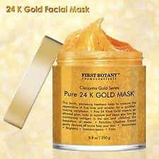24k Gold Facial Mask Pure Anti Aging Acne Scar Treatment Pore Minimizer 8.8 oz