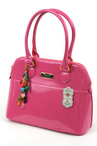 Fashion Only patent tote fashionable women's handbag with charm