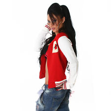 2 X NEW SEXY FUNKY DIVA COLLEGE BASEBALL JACKET COAT 12 - 14  ❤ RED ❤ GLOSSI
