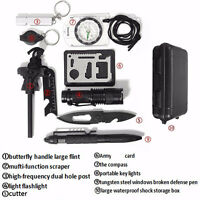 10 in 1 Professional Survival kit Camp Outdoor Travel Hike Field Emergency Tool