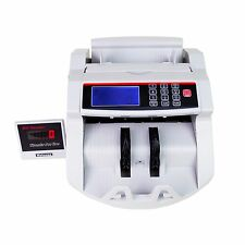 Bill Counter Money Counting Cash Machine Counterfeit Detector UV MG Bank LCD New